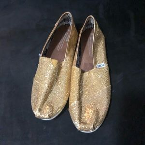 Toms Gold Glitter